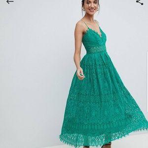 b7b5dc6e00 ASOS Dresses - Asos Tall Lace Cami Midi Prom Dress